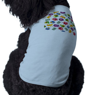 Colorful Cute Monsters Fun Cartoon Dog Clothes