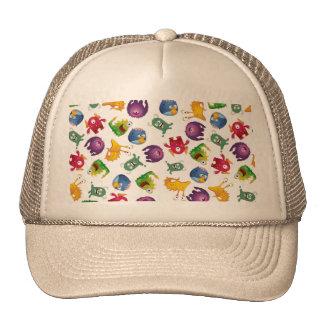 Colorful Cute Monsters Fun Cartoon Trucker Hat