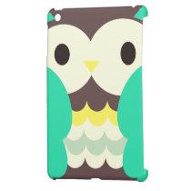 Colorful Cute Owl iPad Mini Covers