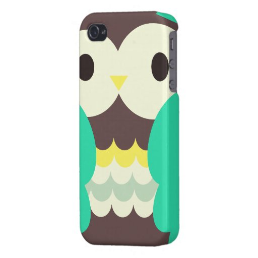 Colorful Cute Owl iPhone 4 Cases