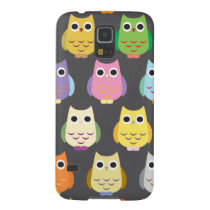 Colorful Cute Owls Case For Galaxy S5