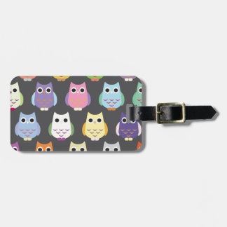 Colorful Cute Owls Tags For Bags