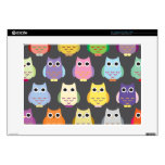Colorful Cute Owls Skin For Laptop