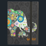 """Colorful Cute Retro Floral Elephant Illustration Case For iPad Air<br><div class=""""desc"""">Colorful retro flowers in a shape of an elephant illustration. Decorated with images of diamond studs. Cute colorful elephant design</div>"""