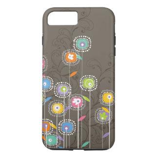 Colorful Cute Retro Flowers Pattern iPhone 7 Plus Case