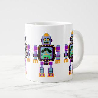 Colorful Cute Robot Large Coffee Mug