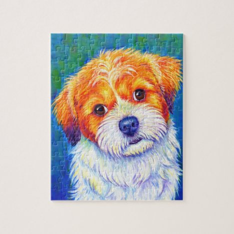 Colorful Cute Shih Tzu Dog Puzzle