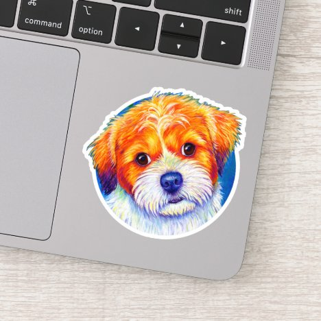 Colorful Cute Shih Tzu Vinyl Sticker