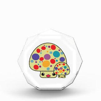 Colorful Cute Spotted Kawaii Mushroom Toadstools Acrylic Award