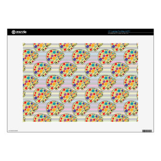 Colorful Cute Spotted Kawaii Mushroom Toadstools Decal For Laptop