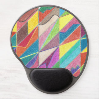 Colorful Cuts and Facets Gel Mousepad