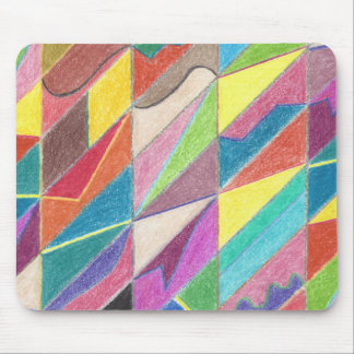 Colorful Cuts and Facets Mousepad