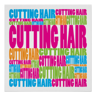 Colorful Cutting Hair Poster