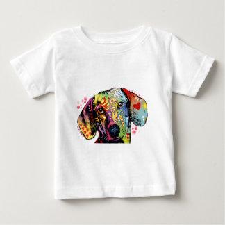 colorful Dachshund art Baby T-Shirt