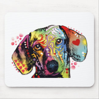 colorful Dachshund art Mouse Pad
