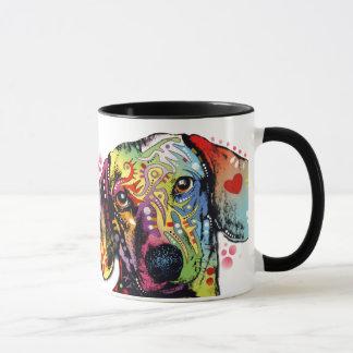 colorful Dachshund art Mug
