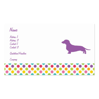 Colorful Dachshund Business card