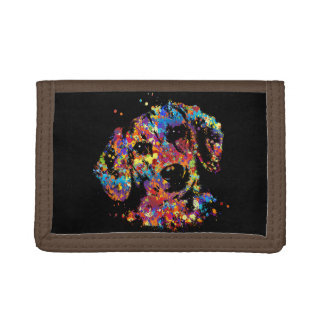 Colorful Dachshund dog  - Doxie Trifold Wallet