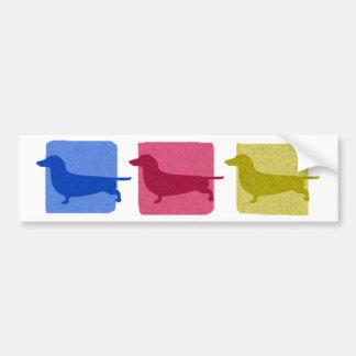 Colorful Dachshund Silhouettes Bumper Sticker