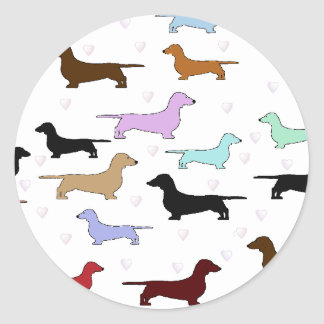 Colorful Dachshund Sticker