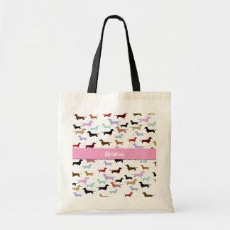 Colorful Dachshund Tote Bag