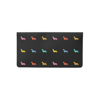 Colorful Dachshunds Checkbook Cover