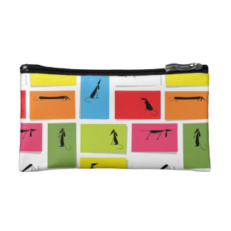 Colorful Dachshunds Cosmetic Bag