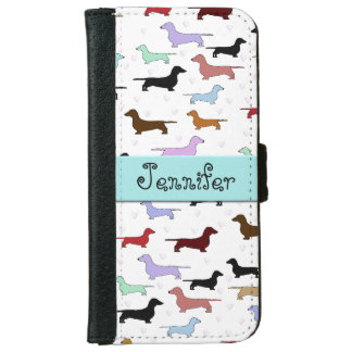 Colorful Dachshunds iPhone Wallet iPhone 6 Wallet Case