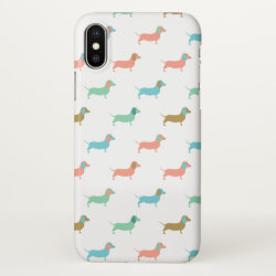 iPhone X Case with Dachshund Phone Cases design