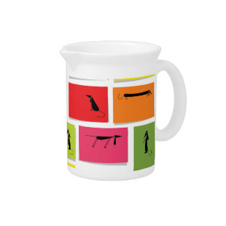 Colorful Dachshunds Pitchers