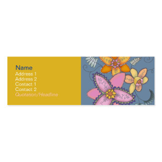 Colorful Daffodil Profile Cards Double-Sided Mini Business Cards (Pack Of 20)