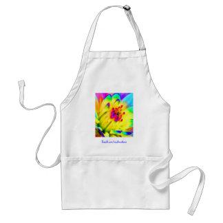 colorful dahlia apron