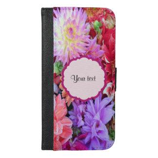 Colorful Dahlias iPhone 6/6s Plus Wallet Case