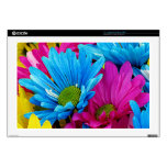 "Colorful Daisies 17"" Laptop Skins"