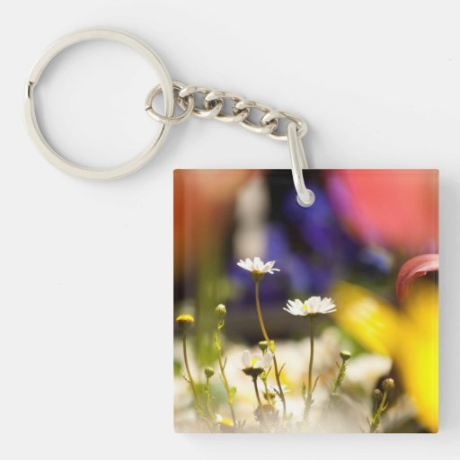 Colorful Daisies Acrylic Key Chains