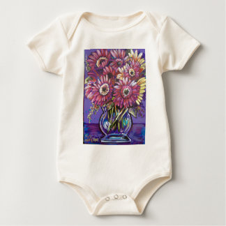 COLORFUL DAISIES BABY BODYSUIT