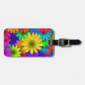 Colorful Daisies Bag Tag