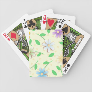 Colorful daisies bicycle playing cards
