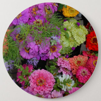 Colorful Daisies Button