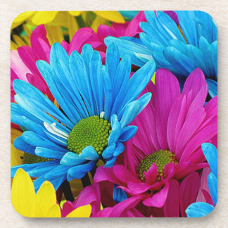 Colorful Daisies Coaster