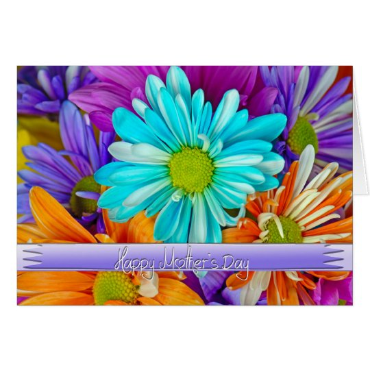 Colorful Daisies for Mom Card