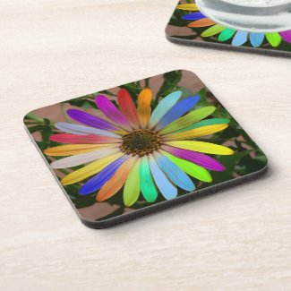 Colorful Daisy Coaster