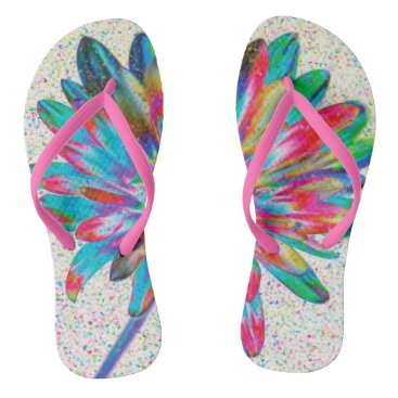 Beach Themed Colorful Daisy Flip Flop