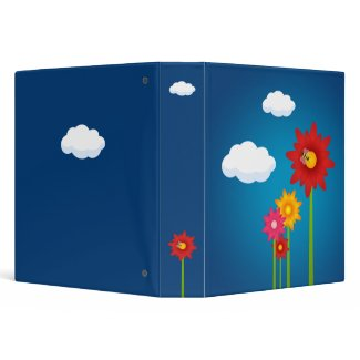Colorful Daisy Flowers binder binder