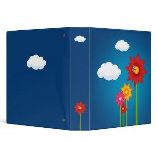 Colorful Daisy Flowers binder binder
