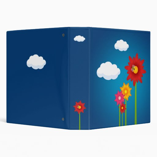Colorful Daisy Flowers binder