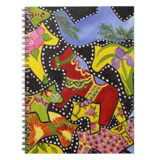 Colorful Dala Horses Notebook
