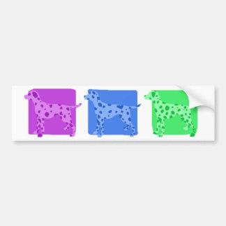 Colorful Dalmatian Silhouettes Car Bumper Sticker