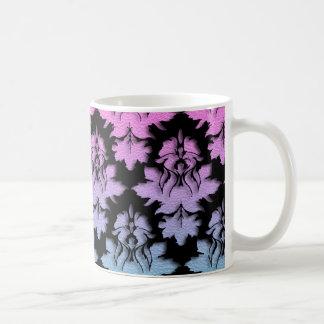 Colorful Damask Black Glitter Mug