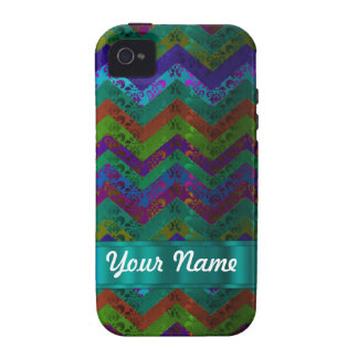 Colorful damask chevron vibe iPhone 4 cover